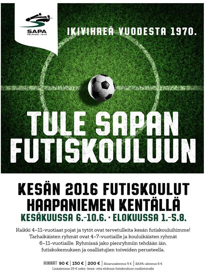 SAPA jalkapallokoulu 2016